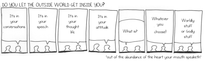 do you let the outside world get inside you?